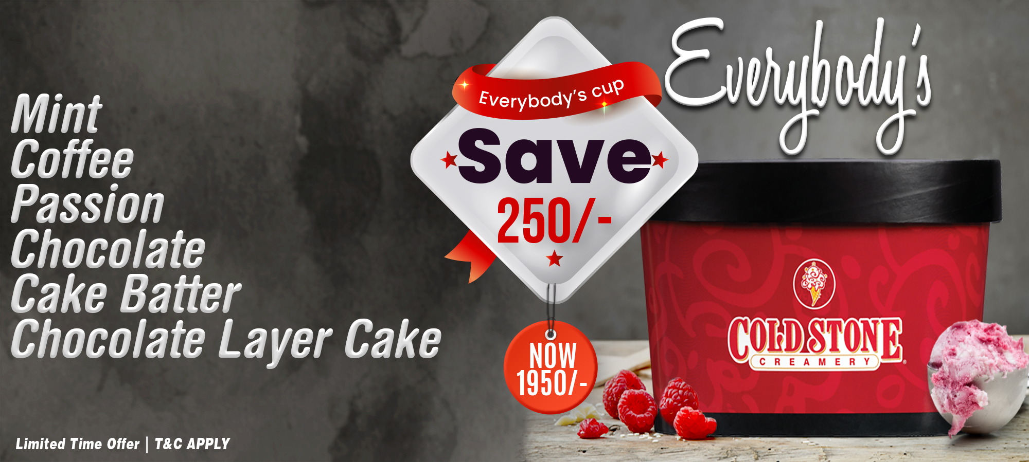Everybody saves  with Coldstone